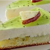 دستور تهیه چیز کیک لیمویی یخچالی با کیوی