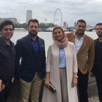 تیپ بهرام رادان , سحر دولتشاهی و پژمان بازغی در لندن