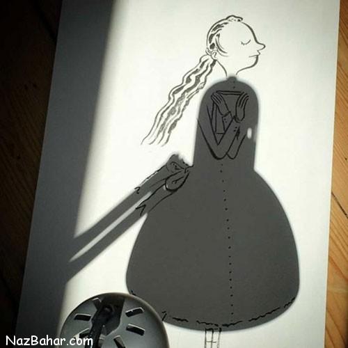 تصاویر شگفت انگیز و دیدنی از نقاشی با سایه