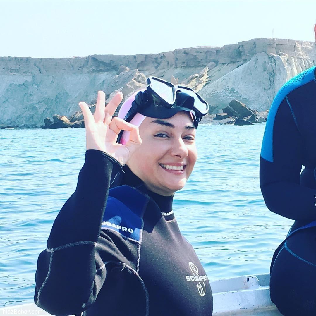 عکس هانیه توسلی با لباس شنا + عکس های جدید
