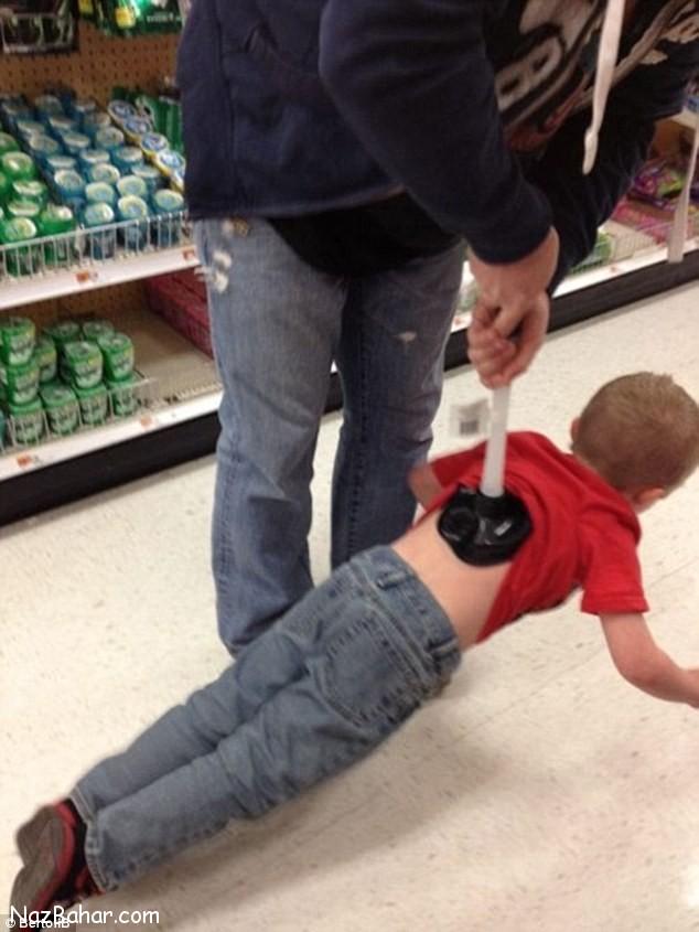 عکس هایی دیدنی و جالب از بلاهایی که پدر ها سر بچه هاشون میارن