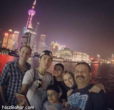 عکس های شقایق دهقان با همسر و فرزندانش در چین