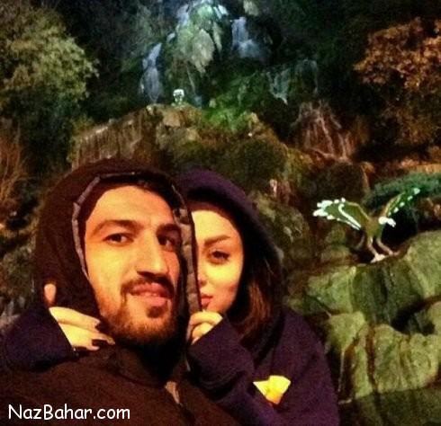 عکس حسین ماهینی در کنار همسرش