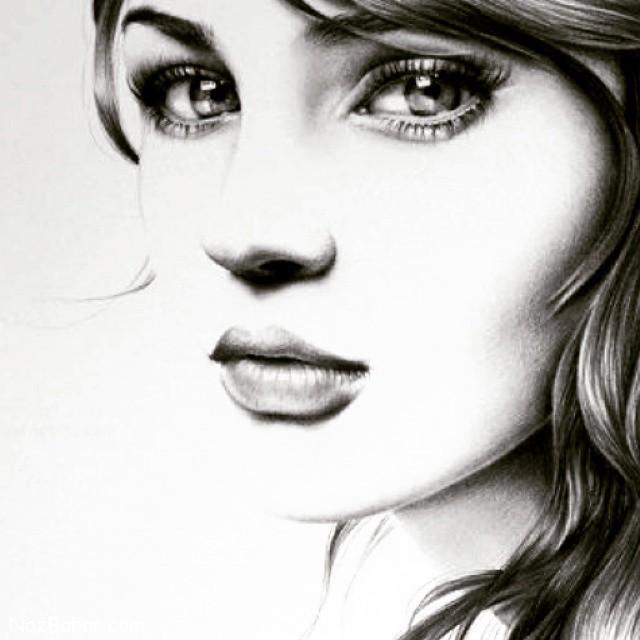 عکس نقاشی پروفایل دخترانه,قیافه,عکس صورت پروفایل دختر