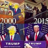 دونالد ترامپ شانزده سال پیش در کارتون سیمپسون ها