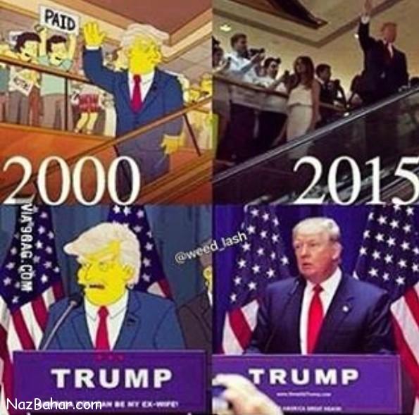 دونالد ترامپ شانزده سال پیش در کارتون سیمپسون ها (عکس + فیلم)