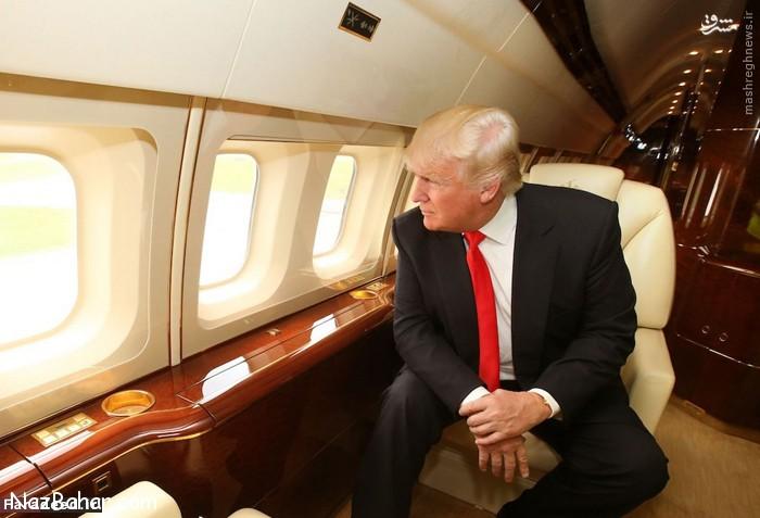 عکس های جت لوکس و صد میلیونی دونالد ترامپ