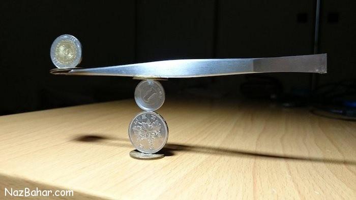 هنرنمایی دیدنی و خارق العاده با سکه ها