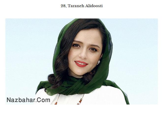 tarane alidoosti,نیکی کریمی و ترانه علیدوستی در بین 30 زن زیبای جهان